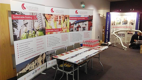 The SBS stand at the EEM showcase event