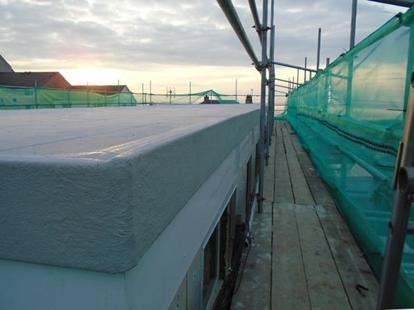 Another view of the new insulated roof.
